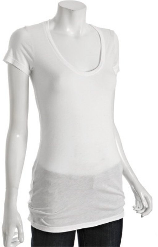 Splendid white lightweight jersey scoop neck t-shirt