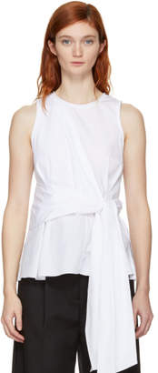 3.1 Phillip Lim White Twist Front Tank Top