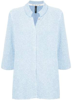 Marc Cain flower buttons elongated jacket