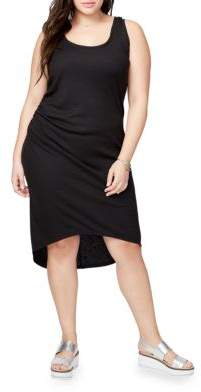 Rachel Roy Plus Michele Heathered Racerback Hi-Lo Dress