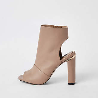 River Island Light pink leather shoe boot