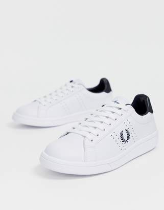 Fred Perry B721 leather sneaker with logo sole