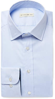 Etro Light-Blue Slim-Fit Cotton Shirt - Light blue