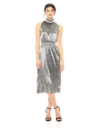 Kensie Women's Pleated Shine Midi Dress