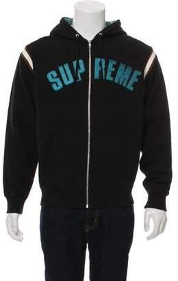 Supreme Arc Logo Zip-Front Hoodie