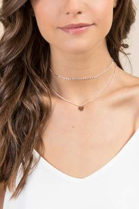 francesca's Maia Double Layer Coin Choker in Rose Gold - Rose/Gold