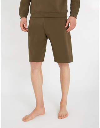 Moschino Tape-detail stretch-cotton shorts