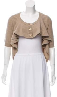 Marc Jacobs Ruffled High-Low Cardigan