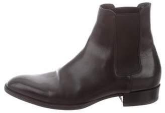 Saint Laurent Leather Point-Toe Chelsea Boots