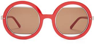 Marni Round cut-out sunglasses