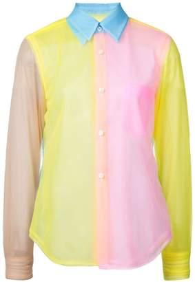 Comme des Garcons colour block shirt