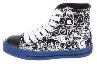 Little Marc Jacobs Boys' Canvas High-Top Sneakers
