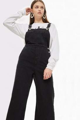 Topshop Cropped wide leg dungarees