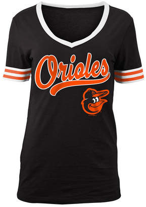 5th & Ocean Women's Baltimore Orioles Retro V-Neck T-Shirt