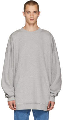 Y/Project Grey Paneled Hoodie