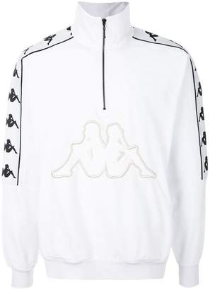 Kappa zipped collar logo sweatshirt