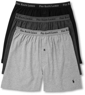 Polo Ralph Lauren Men 3-Pk. Cotton Classic Knit Boxers