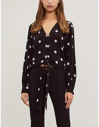 Paige Alynna polka-dot woven blouse