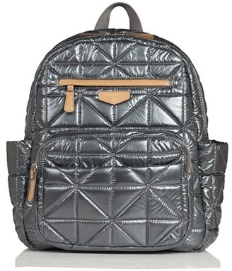 Infant Twelvelittle Quilted Water Resistant Nylon Diaper Backpack - Black $189 thestylecure.com