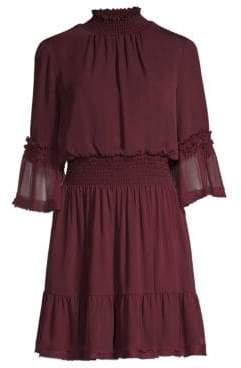 Kobi Halperin Lacie Silk Smocked Dress