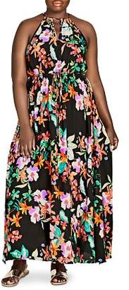 City Chic Plus Molokai Floral-Print Maxi Dress