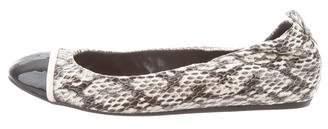 Lanvin Snakeskin Ballet Flats