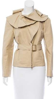 Valentino Ruffled Zip-up Jacket w/ Tags