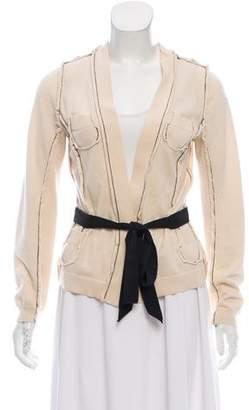 Nina Ricci Belted Knit Cardigan
