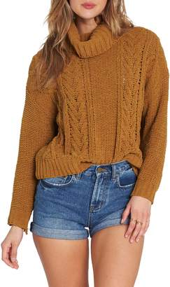 Billabong Cable Knit Turtleneck Sweater