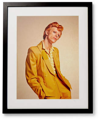 Sonic Editions Framed 1974 David Bowie Print, 17 X 21