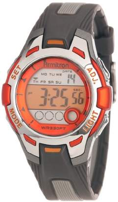 Armitron Sport Women's 45/7030ORG Accented Grey Resin Digital Chronograph Watch