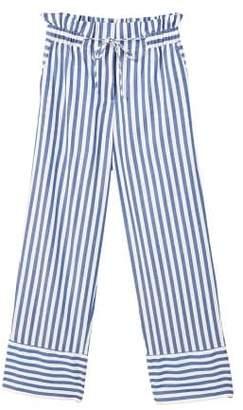 MANGO Striped cotton trousers