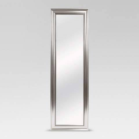 MCS Beaded Leaner Floor Mirror Silver