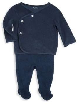 Ralph Lauren Baby's Cotton Top and Footed Pants Set