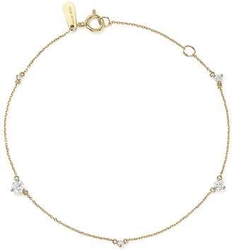 Adina 14K Yellow Gold Amigos Five Diamond Station Bracelet