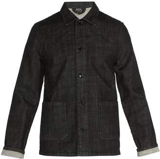 A.P.C. Point-collar denim overshirt