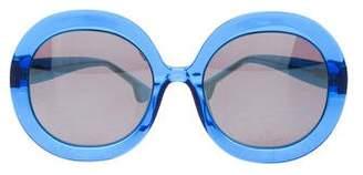 Alice + Olivia Melrose Round Sunglasses