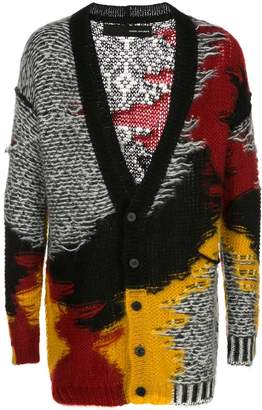Isabel Benenato distressed effect mid-length cardigan
