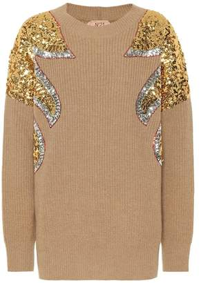 N°21 Sequined virgin wool sweater