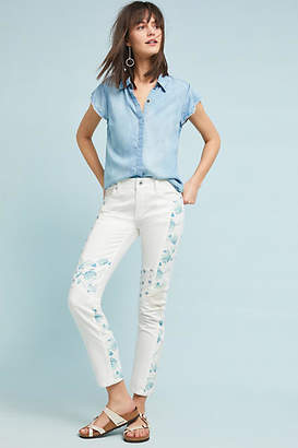 Pilcro and the Letterpress Pilcro Mid-Rise Slim Straight Jeans