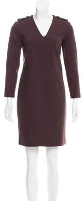 Burberry Leather-Trimmed Mini Dress w/ Tags