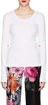 Helmut Lang Women's Cutout Rib-Knit Cotton T-Shirt