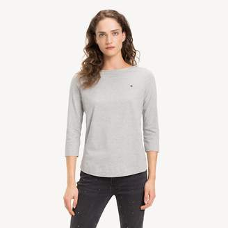 Tommy Hilfiger Organic Cotton Metallic Trim Top