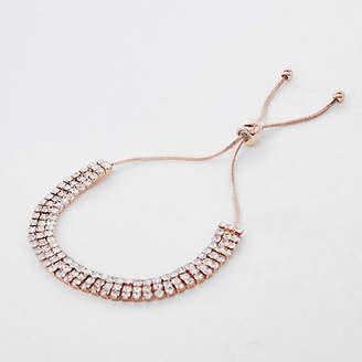 River Island Gold tone rhinestone lariat bracelet