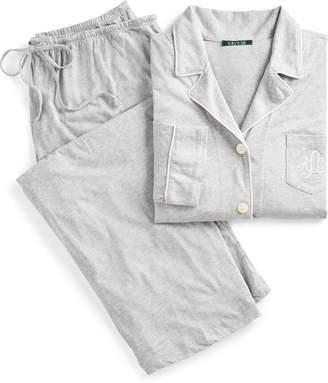 at ralph lauren a ralph lauren cotton jersey pajama set
