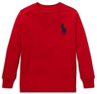 Polo Ralph Lauren Boys' Big Pony Long-Sleeve Cotton Tee - Little Kid