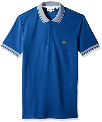 Lacoste Men's Short Pique Collar/Sleeve Contrast Reg Fit Polo