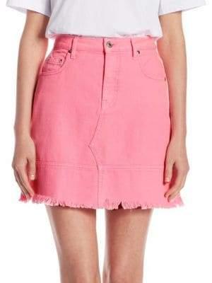 MSGM Neon Denim Mini Skirt
