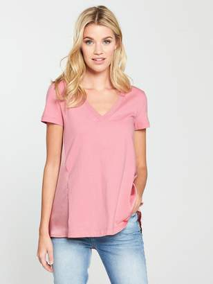Very Woven Jersey Mix Top - Blush