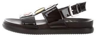 Minna Parikka Patent Leather Embellished Sandals